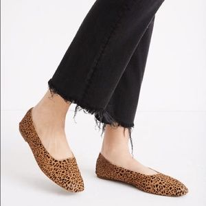 Madewell Square Toe Flats in Leopard Calf …